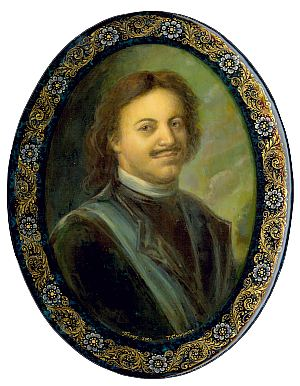 Portrait of Peter the Great by Tatyana Smirnova of Palekh